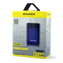 Power Bank 10000Mah P54K Awei оптом