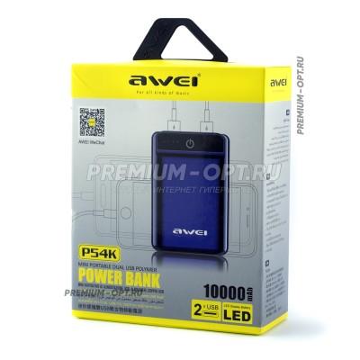 Power Bank 10000Mah P54K Awei оптом