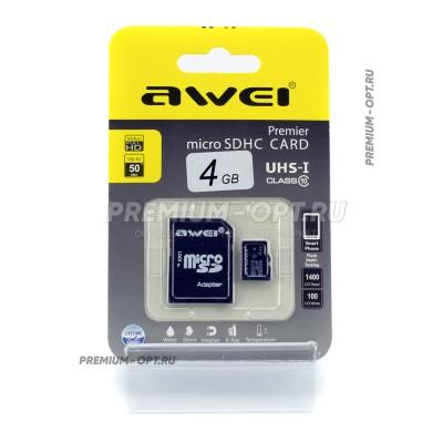 Карта памяти microSD Awei 4gb оптом