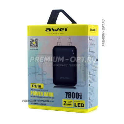 Power Bank Awei P61K 7800Mah оптом