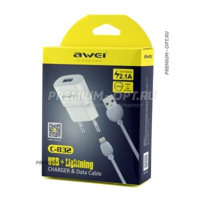 Адаптер + кабель Apple C-832 Awei оптом