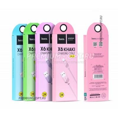 USB кабель HOCO Original X6 Khaki Micro оптом