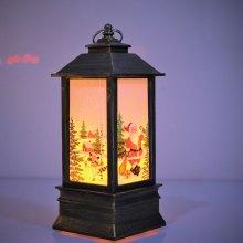 Новогодний светильник со свечой 12 см оптом