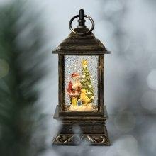Новогодний светильник со свечой 22 см оптом